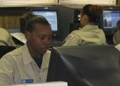 cadet at computer lab