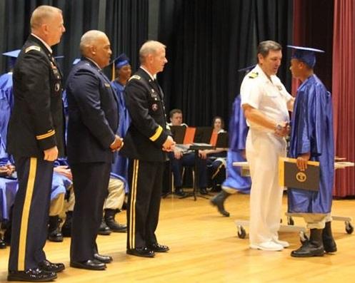 graduation with captain